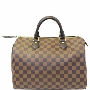 LOUIS VUITTON Speedy 30 Damier Ebene Satchel Bag